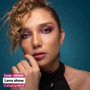 لنز رنگی طوسی دوردار لنز شو | لنز چشم | لنز طبی | 09127306039